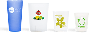 Custom cups for markets and fairs
