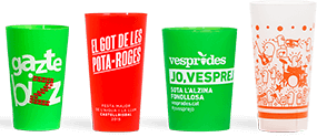reusable printed cup for big events