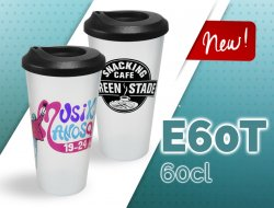 New 50/60 cl reusable cup with lid